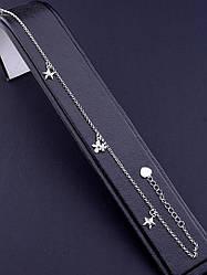 077667 Браслет на ногу Серебро(925) 22 см.