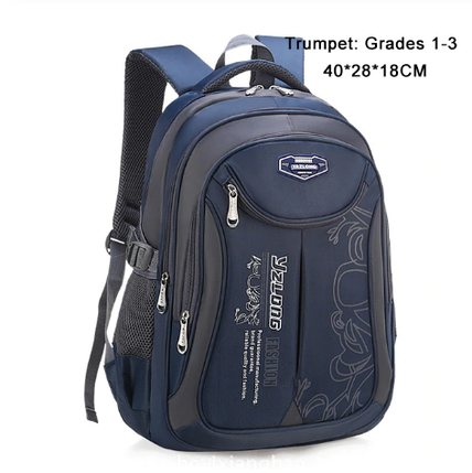 Рюкзак школьный YAZLONG унисекс темно синий, фото 2