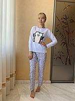 Пижама женская с начесом Asma Сова, фото 1