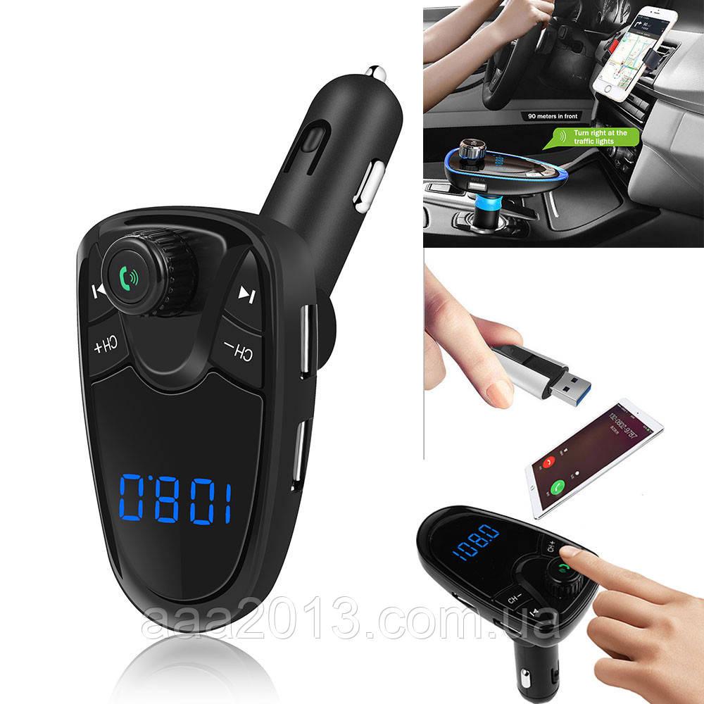 ЗАРЯДКА USB 7в1 РАДИО FM модулятор трансмиттер, mp3 плеер, громкая связь  для авто