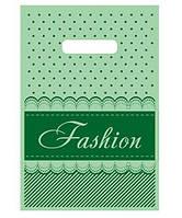 """Пакет полиэтиленовый подарочный маленький с вырубной ручкой (20*30) """"Fashion полоска"""" Леоми (100 шт)"""