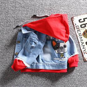 Детская джинсовая демисезонная куртка на мальчика