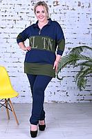 Женский спортивный костюм с туникой, с 50-60 размер, фото 1