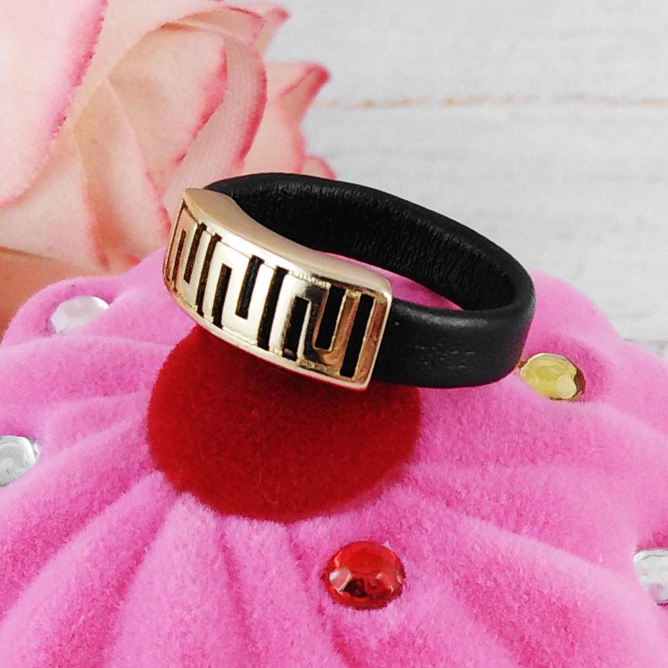 Кольцо Xuping Jewelry размер 18 Каучуковое, медицинское золото, позолота 18К. А/В 3953