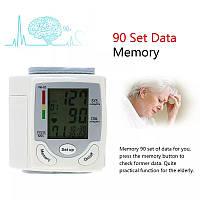 Тонометр автоматичний наручний цифровий РК-монітор  вимірювання артеріального тиску, аритмії, пам'ять 90 вим.