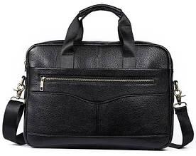 Мужской кожаный портфель Marranti черный