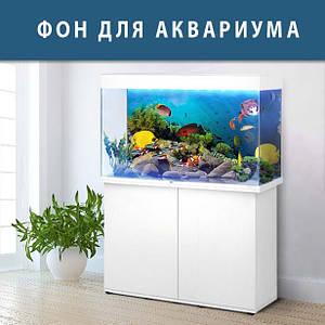 Наклейка в аквариум 3D морское дно, в разных размерах 40х65 см.