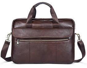 Мужской кожаный портфель Marranti коричневый