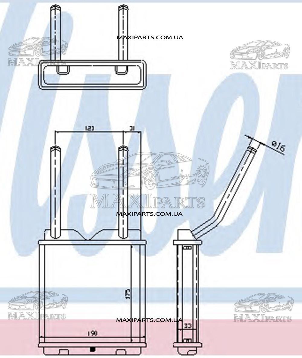 Радиатор печки салона OPEL ASTRA F (91-) Nissens 726531