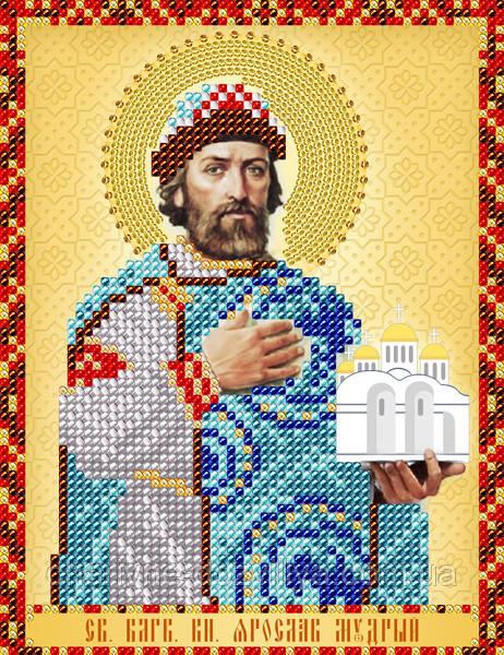 """Схема для вышивки бисером именная икона """"Святой князь Ярослав Мудрый"""""""