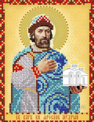 """Схема для вышивки бисером именная икона """"Святой князь Ярослав Мудрый"""", фото 2"""