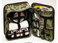 NF4-29 Сумка охотника, Фляжка в наборе, Походный набор с флягой, Туристический набор с посудой