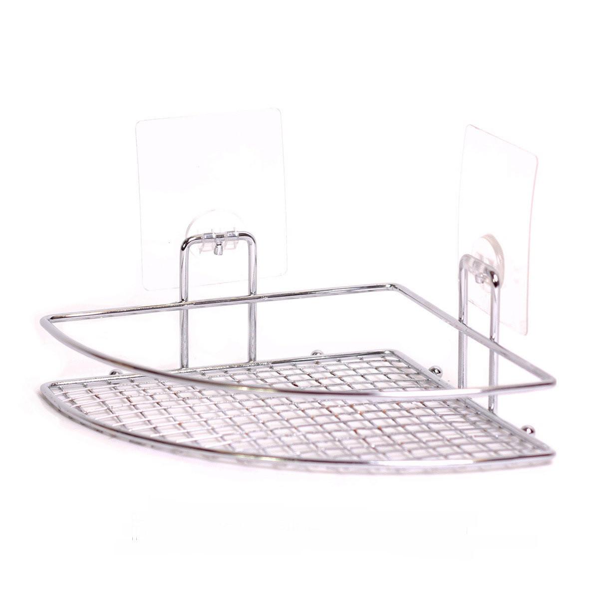 угловая полка в ванную комнату пластиковая