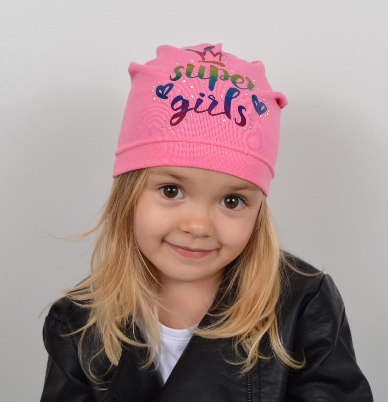 Хлопковая шапка на весну для девочки - Артикул 2220