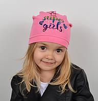 Хлопковая шапка на весну для девочки - Артикул 2220, фото 1