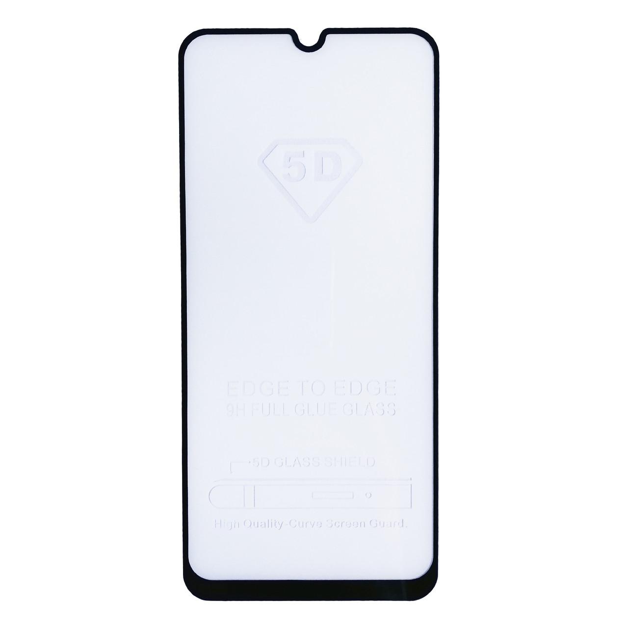 Защитное стекло Full Glue для Samsung Galaxy A30 Black (тех упаковка)