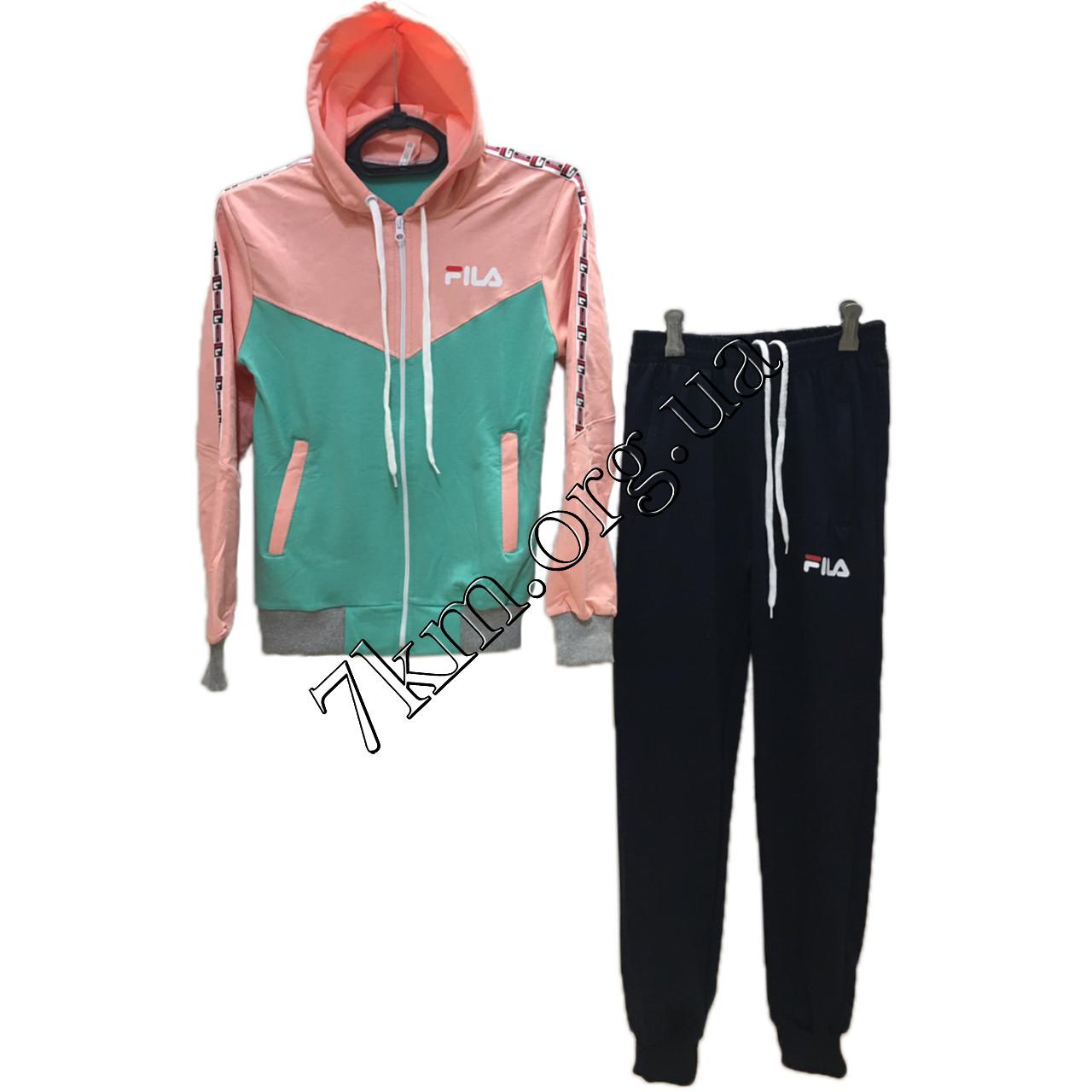 """Спортивний костюм підлітковий репліка """"FILA"""" для дівчаток 10-16 років Оптом 160805"""