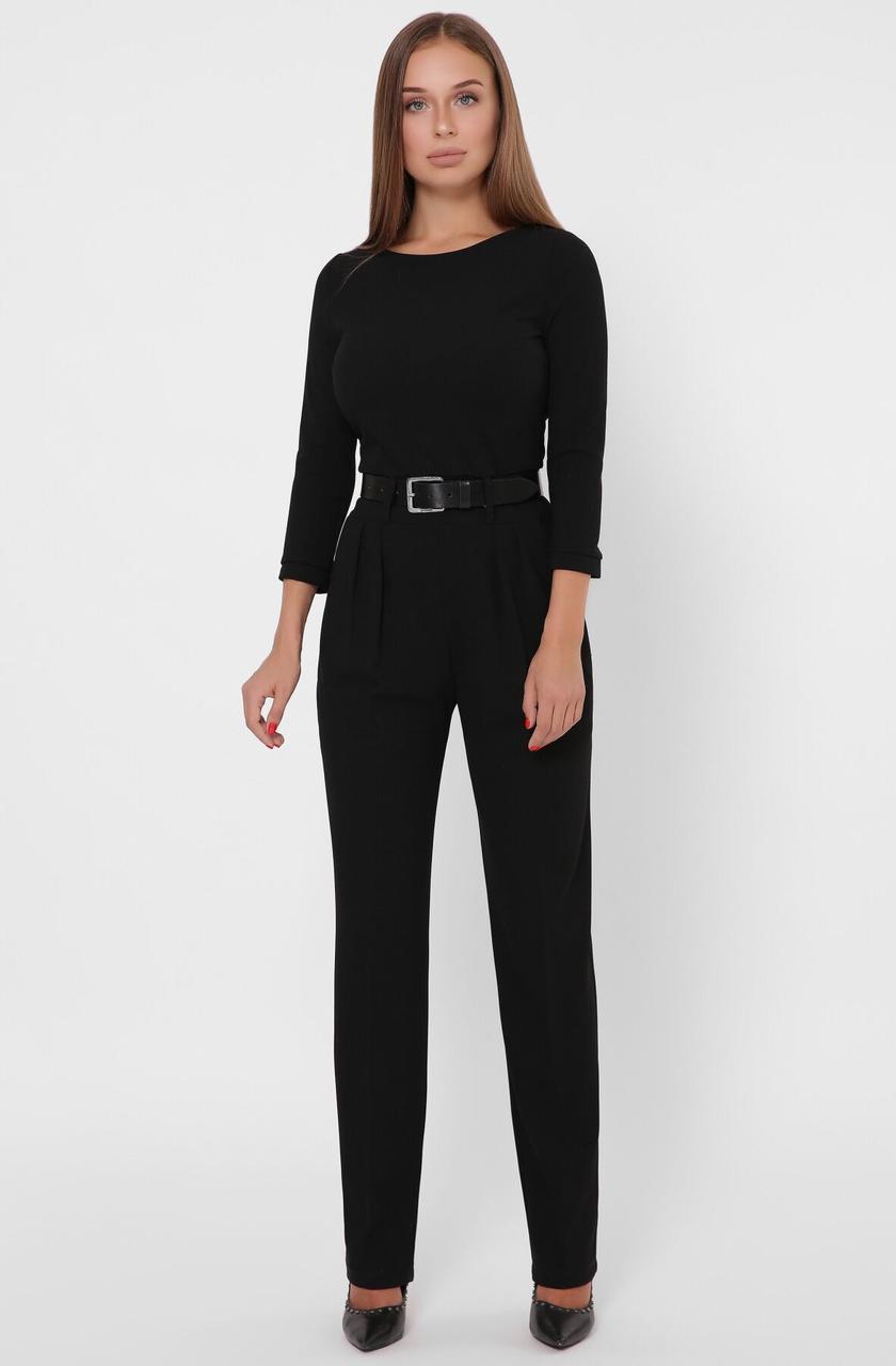 Красивый женский комбинезон с брюками черный