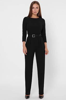 Красивый женский комбинезон с брюками черный, фото 2