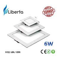 Светодиодная панель встраиваемая квадратная Liberta Турция 6W