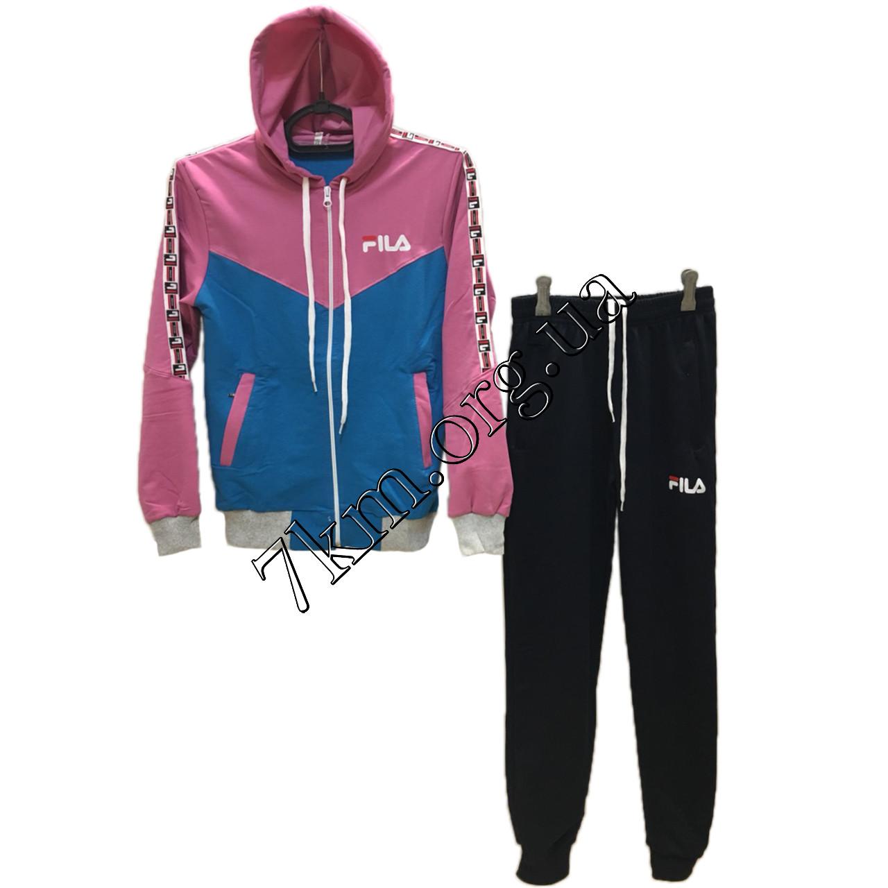 """Спортивний костюм підлітковий репліка """"FILA"""" для дівчаток 10-16 років Оптом 160805-1"""