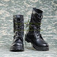 """Берцы летние  """"НАТО""""  с черной тканевой вставкой"""
