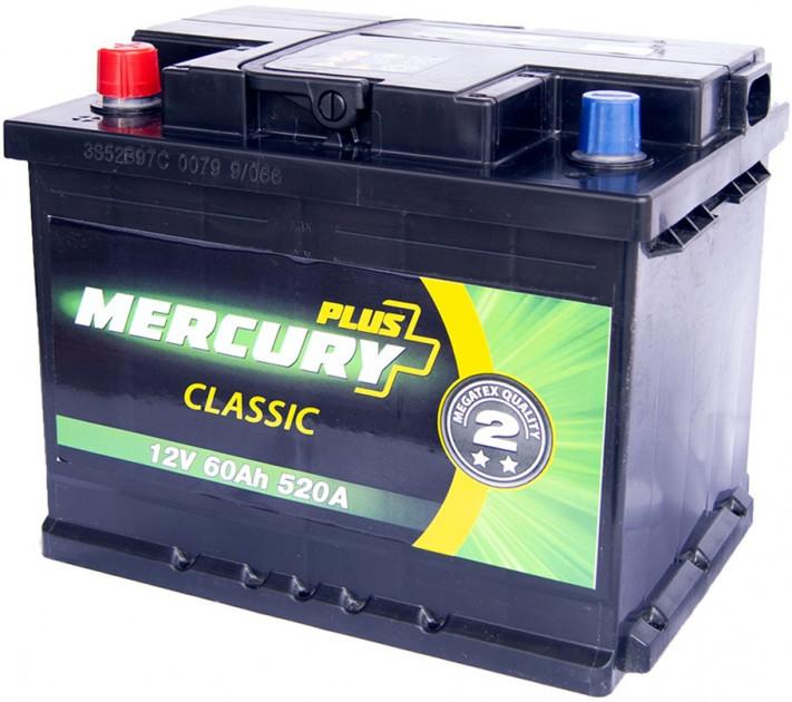 Аккумулятор MERCURY CLASSIC Plus 60Ah  (+/-) (520EN), p47278