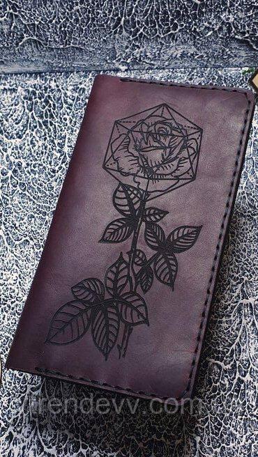 Портмоне женское кожаное Mountains Роза Original