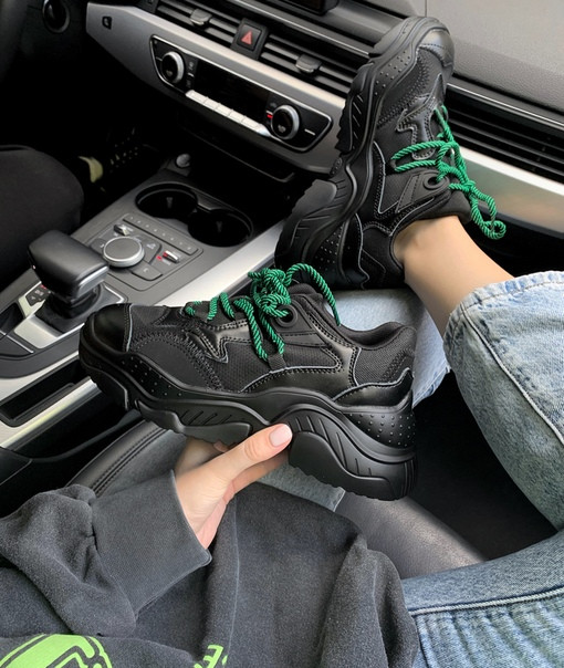 Жіночі кросівки № 21 Black, Репліка