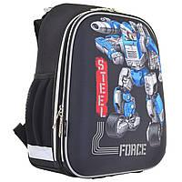 Рюкзак школьный каркасный 1 Вересня H-12 Steel Force для мальчиков