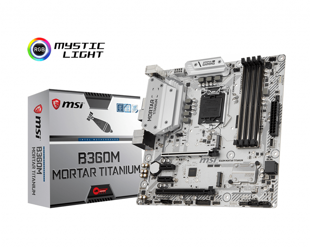 "Материнская плата MSI B360M Mortar Titanium DDR4 Socket 1151v2 ""Over-Stock"" Б/У"