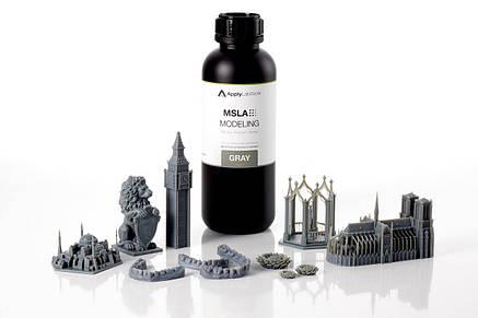 Фотополімерна смола Applylabwork MSLA Modeling Gray для LED/LCD 3D принтерів, фото 2