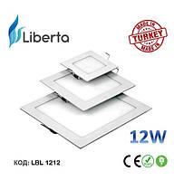 Светодиодная панель встраиваемая квадратная Liberta Турция 12W