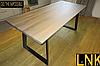 1200*800*750 Обеденный стол LNK-LOFT из натурального дерева 1200*800*750