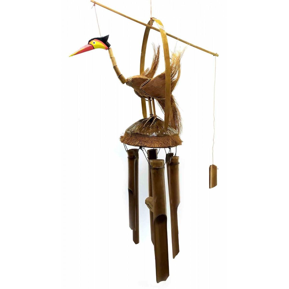 Музыка ветра из бамбука и кокоса Аист