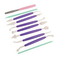 Инструменты для работы с мастикой 10 предметов Галетте - 02003