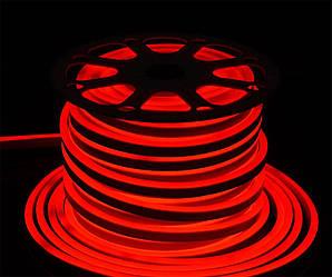 Світлодіодний неон SMD2835, червоний  120шт/м, 10W/m, IP68, 12V