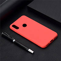 Чехол Soft Touch для Honor 8A силикон бампер красный