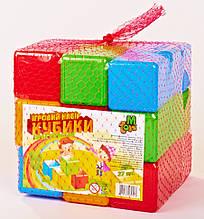 Кубики цветные  27 шт. 09064