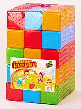 Кубики цветные  45 шт. 09065