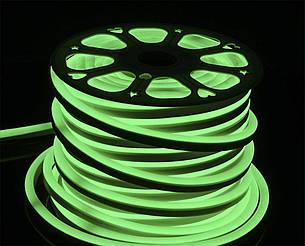 Світлодіодний неон SMD2835, зелений  120шт/м, 10W/m, IP68, 12V