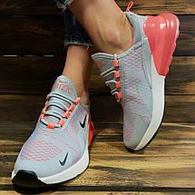 Кроссовки женские в стиле Nike Air 270 серые, фото 2