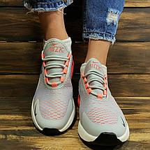 Кроссовки женские в стиле Nike Air 270 серые, фото 3
