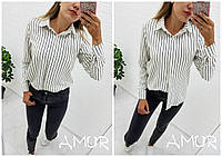 Рубашка женская молодежная СЕР261 черный и белый, фото 1