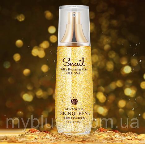 Тонер Venzen Gold Snail с частичками золота и с муцином улитки 100 ml