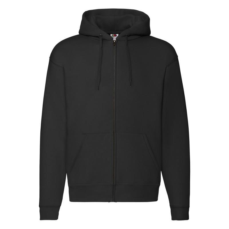 Мужская толстовка Hooded Sweat Jacket (Цвет: Чёрный; Размер: 2XL)