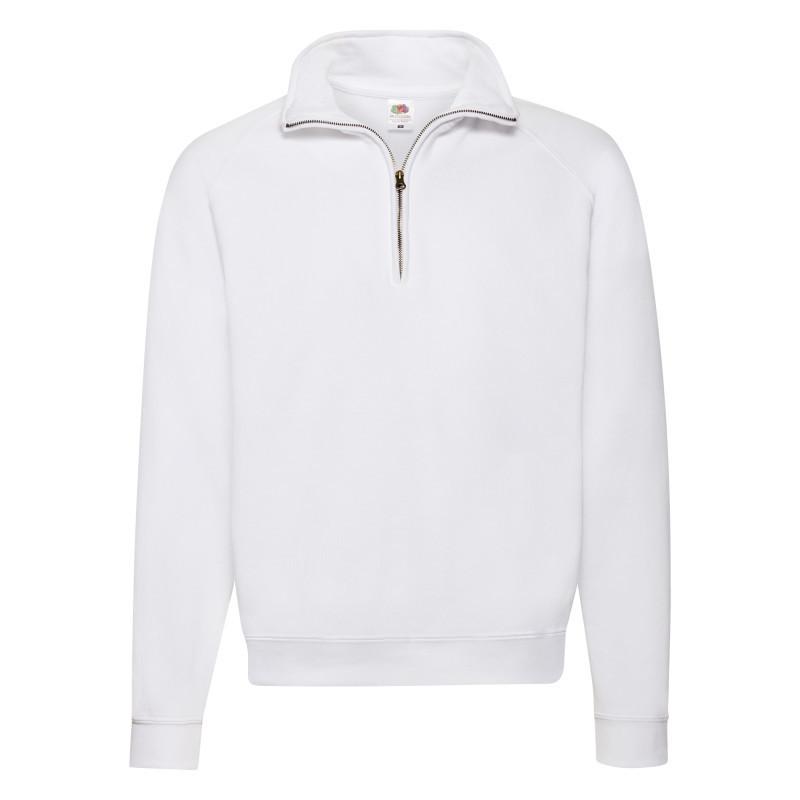 Мужская толстовка Zip Neck Sweat (Цвет: Белый; Размер: 2XL)