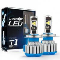 Светодиодные лампы LED H4 TurboLed T1 с обманкой