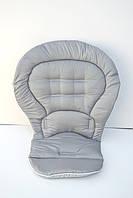 Чехол к стульчику для кормления Chicco Polly Magic 3 в 1 серый в точку, фото 1