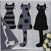 Хлопковое банное полотенце с котиками